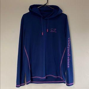 Navy & Pink Vineyard Vines Performance Sweatshirt